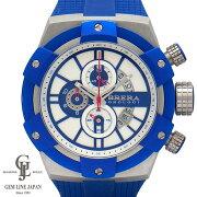 【Aランク】ブレラオロロジスーパースポルティーボBRSSC4917ブルー×ホワイト文字盤ステンレス×ラバー48mm日付機能クロノグラフクォーツメンズ腕時計【中古】