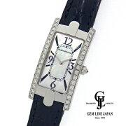 【中古】ギャラ付ハリーウィンストンアヴェニューCサイドダイヤ330LQWLMD21レディースシェル文字盤クォーツ腕時計