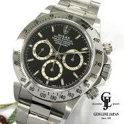 【新品未使用】ギャラ付ロレックスU番コスモグラフデイトナ16520ブラウンアイ系メンズ腕時計