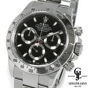 【中古】【美品ギャラ付き】ロレックスデイトナ116520ランダム番ルーレット刻印黒文字盤SSメンズ腕時計