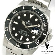 【中古】【美品ギャラ付き】ロレックスサブマリーナ116610LNランダム番ルーレット刻印SS黒文字盤メンズ腕時計