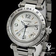 【中古】カルティエパシャCメリディアンW31055M7/2377SSメンズ腕時計