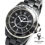 【中古】【美品Sランク】2018/9購入シャネルJ12H0685黒セラミックメンズ腕時計