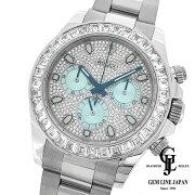 【中古】美品ギャラ付ルーレット刻印ロレックスデイトナ116576TBRPt無垢ダイヤモンドメンズ腕時計