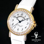 【中古】美品ギャラ付きブレゲマリーン8818BA/59/864/DD0Dレディース自動巻き腕時計