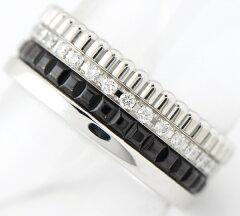 ブシュロンキャトルブラックダイヤモンドリング#4818金ホワイトゴールド【】(2200000184047)