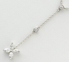 ティファニービクトリアロングドロップダイヤモンドネックレスプラチナ【】(2200000190925)