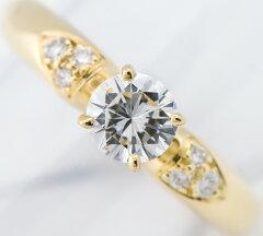 ヴァンクリーフ&アーペル ジネット ダイヤモンド メレダイヤモンド 18金イエローゴールド 7号 リング・指輪【】(2200000216052)