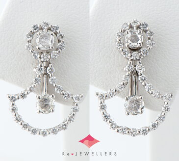 ダミアーニ ジュリエット ダイヤモンド 18金ホワイトゴールド イヤリング【中古】(2200000282538)