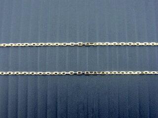 K18イエローゴールドアズキチェーン0.3径太さ1ミリ45センチスライドアジャスター式