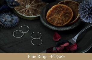 FineRing3本セット!!18金・18金ピンクゴールド・プラチナ重ねつけも出来ます!!K18・K18PG・Pt900純貴金属製!!