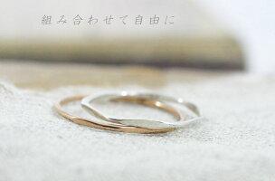 18金ピンクゴールド選べる5デザイン「送料無料」シルバーリングプレゼント!!K18PG「FineRing」極細リング華奢リングレディース指輪重ね着けピンキーリングミディーリングプレゼントギフト日本製0号〜26号