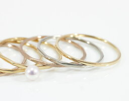 「DM便送料無料」プラチナ製「Pt900FineRing」極細リング華奢リングレディース指輪重ね着けピンキーリング細身ミディーリングプレゼントギフト日本製