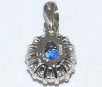 【送料無料】Ptブルーサファイア-0.36ct&ダイヤモンド取り巻きデザインペンダントトップ【smtb-tk】【fsp2124】
