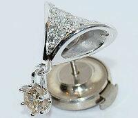 【送料無料】Ptダイヤモンド-計0.477ctオリジナルデザインピンバッジ/ラペルピン