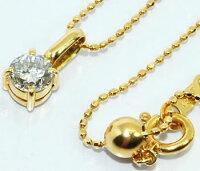 【送料無料】K18ダイヤモンド-0.350ctシンプルプチペンダントネックレス