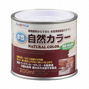 アトムハウスペイント(自然塗料/速乾/ステイン)水性自然カラー(天然油脂ステイン)200ML ナチュラルホワイト