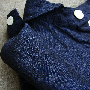 GENERALSTOREヘチマ襟POポケットシャツ(リネンシャンブレー)