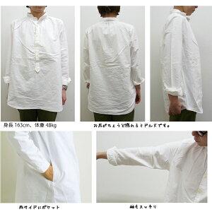 チビ衿プルオーバーチュニックシャツ