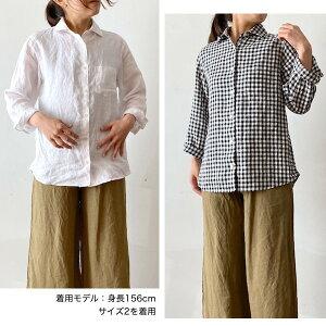 ご予約商品)GENERALSTORE/Aライン8分袖シャツ(リネンバージョン)