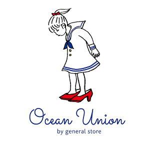"OCEANUNIONMarineDepartmentデザインプリントTシャツ""赤い靴""2021再登場"