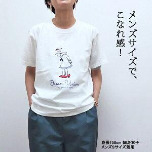 "OCEANUNIONMarineDepartmentデザインプリントTシャツ""セーラーガール"""