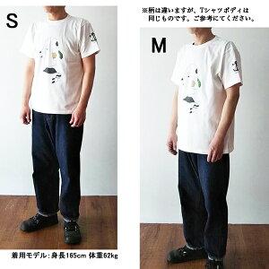"OCEANUNIONMarineDepartmentデザインプリントTシャツ""sunsetoverthesea"""