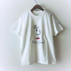 "OCEANUNIONMarineDepartmentデザインプリントTシャツ""赤い靴""【追加生産分】"