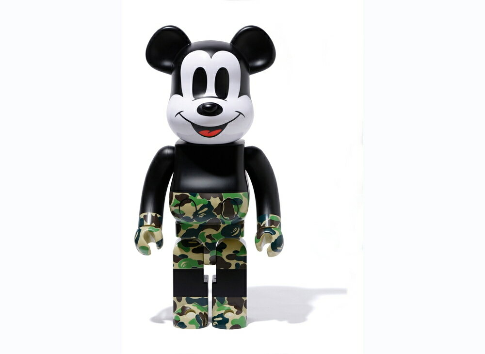 コレクション, フィギュア BERBRICK BAPER MICKEY MOUSE 1000 GREENA BATHING APE medicom toy