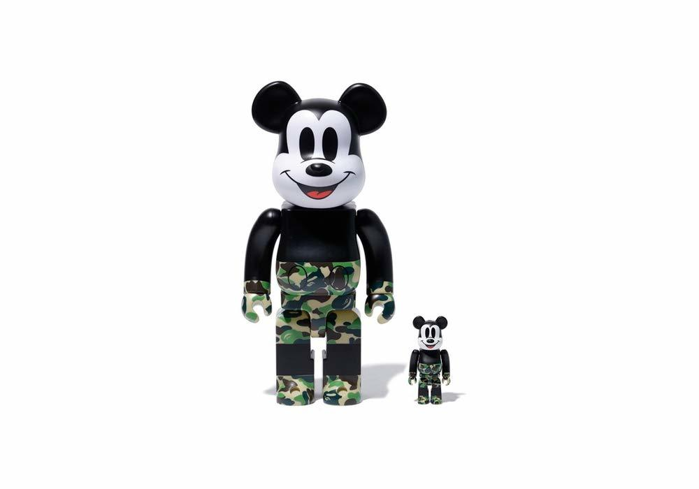 コレクション, フィギュア BERBRICK BAPER MICKEY MOUSE 100400 setGREENBAPE A BATHING APE medicom toy