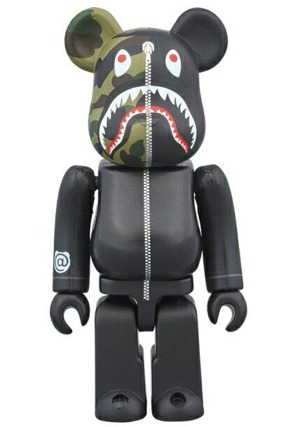 コレクション, フィギュア BERBRICK BAPE 1st CAMO SHARK 1000 BLACKA BATHING APE medicom toy