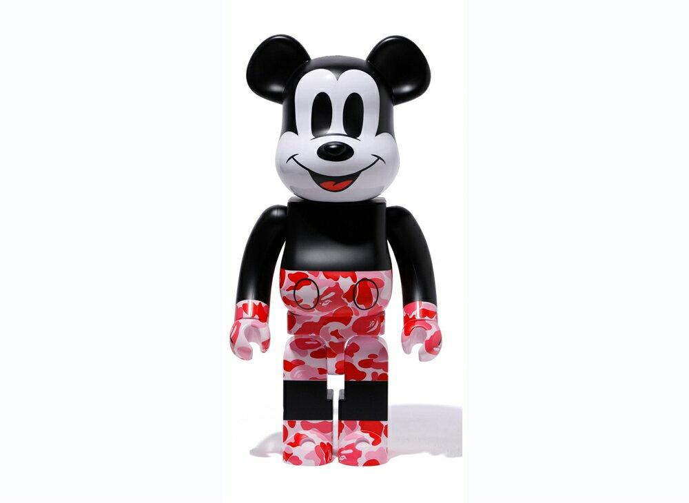 コレクション, フィギュア BERBRICK BAPE174; MICKEY MOUSE 1000 PINKA BATHING APE medicom toy