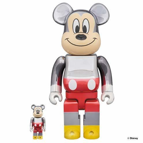 コレクション, フィギュア BERBRICK fragmentdesign MICKEY MOUSE COLOR Ver.100 400 Metalicfragment medicom toy