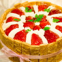 苺のショートケーキ 冷蔵= ホール ケーキ ホールケーキ でお届け!イチゴショート いちごショ...