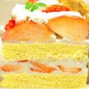φ17cm 苺 の ショートケーキバースデーケーキ ホールケーキ いちご ストロベリー 【楽ギフ_包装】 2