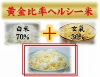 減農薬の発芽玄米配合の黄金比率ヘルシー米10kg(5kg×2袋)【発芽玄米30%配合】無洗米/白米も減農薬/送料無料発芽のチカラで玄米がパワーアップした発芽玄米をブレンド手軽に炊ける無洗米の玄米/発芽玄米配合02P23Aug15