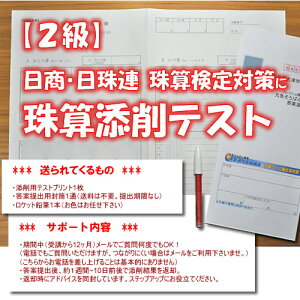 添削テスト2級(日商・日珠連タイプ)テキストなし・サポートあり