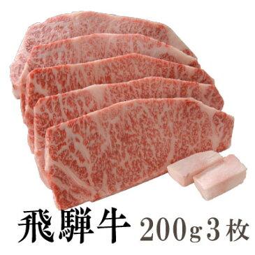 【送料無料】飛騨牛 霜降り サーロインステーキ200g3枚[贈答兼備]