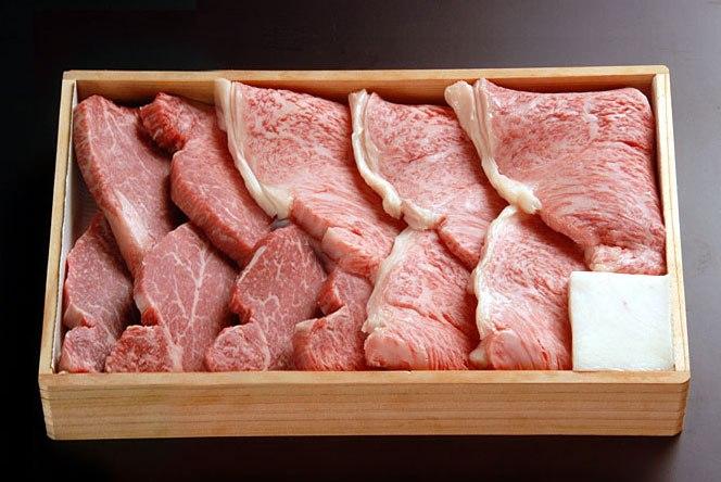 [贈答用][新鮮!厳選☆産地直送][正真正銘血統書付]最高級肉質階級A4〜A5!★霜降り 焼肉特選ロース(サーロイン)+松阪牛焼肉用ヒレ1Kg(100g5枚+500g)特別SALE!:厳選JAPAN