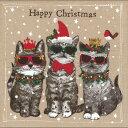 ペーパーナプキン3枚入 ドイツ製 クリスマス柄 ネコ柄 デコパージュ
