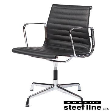 《100%MADE IN ITALY》Eames(チャールズ&レイ イームズ) アルミナムグループ マネジメントチェア(FLAT)スティールライン社DESIGN900【イームズ】