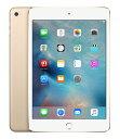 【中古】【安心保証】 iPadmini-7.9_4[セルラー32G]ゴールド