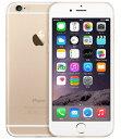 【中古】【安心保証】SIMフリー iPhone6[64G] ゴールド