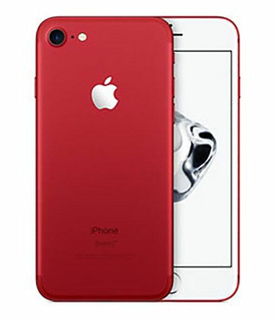 【中古】【安心保証】 au iPhone7[128GB] レッド:ゲオモバイル
