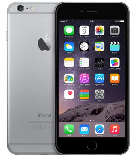 【中古】【安心保証】 docomo iPhone6Plus[16GB] スペースグレイ:ゲオモバイル