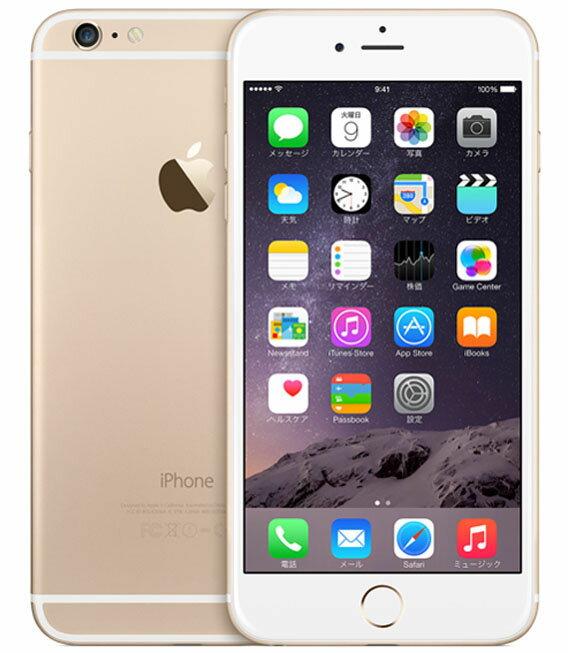 【中古】【安心保証】 docomo iPhone6Plus[128GB] ゴールド:ゲオモバイル
