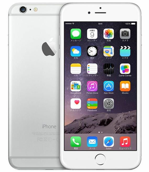 【中古】【安心保証】 au iPhone6Plus[64GB] シルバー:ゲオモバイル
