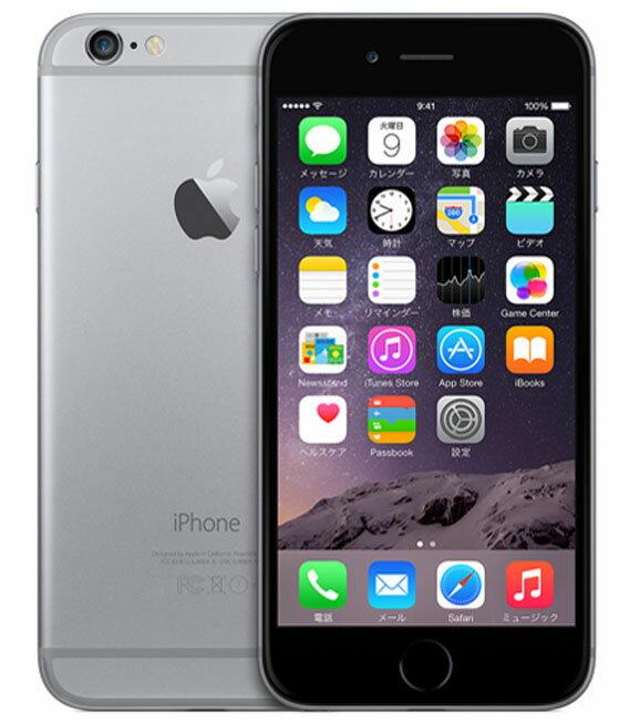 【中古】【安心保証】 SoftBank iPhone6[128GB] スペースグレイ:ゲオモバイル