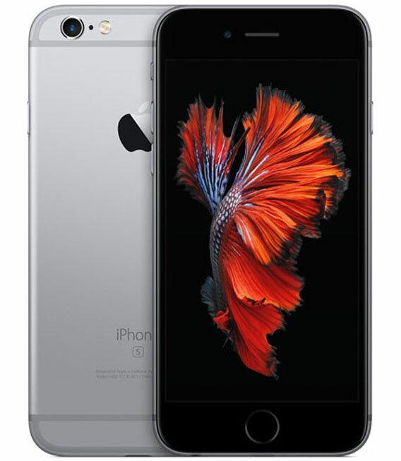 【中古】【安心保証】 au iPhone6s[128G] スペースグレイ:ゲオモバイル