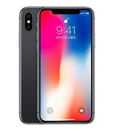 【中古】【安心保証】 iPhoneX[256GB] SIMロック解除 docomo スペースグレイ